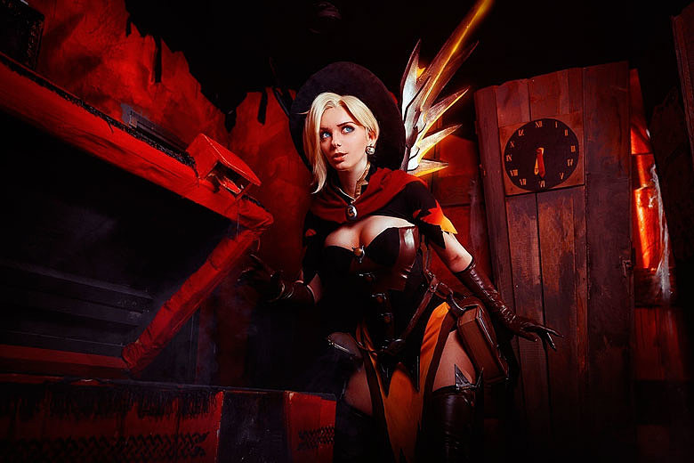 [Cosplay] Mercy (Overwatch) by AGflower