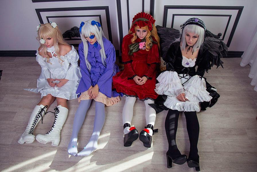Russian Cosplay: Kirakishou, Shinku, Suigintou, Barasuishou (Rozen Maiden)