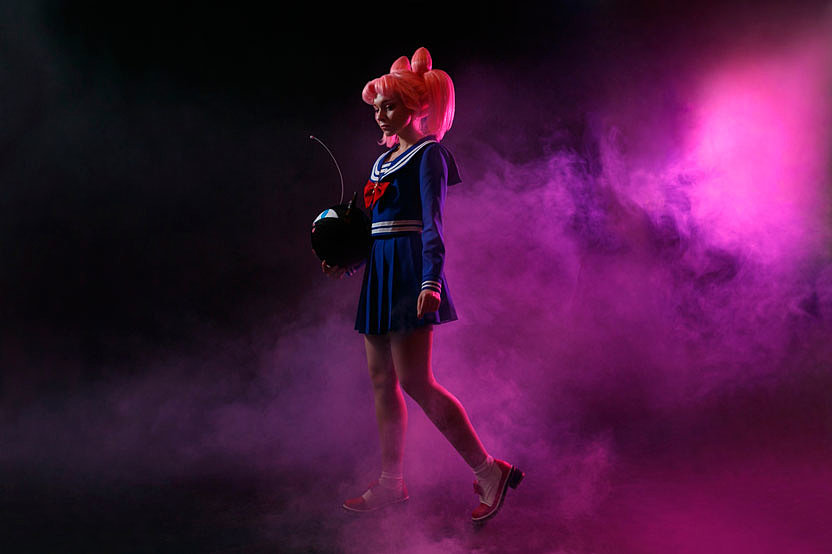 Russian Cosplay: Chibiusa, Black Lady (Sailor Moon R)