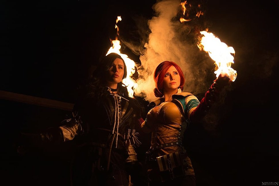 Russian Cosplay: Triss & Yennefer (The Witcher 3)