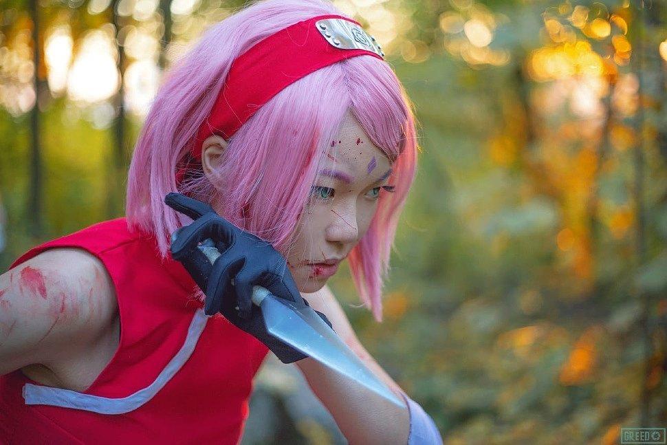Russian Cosplay: Sakura (Naruto)