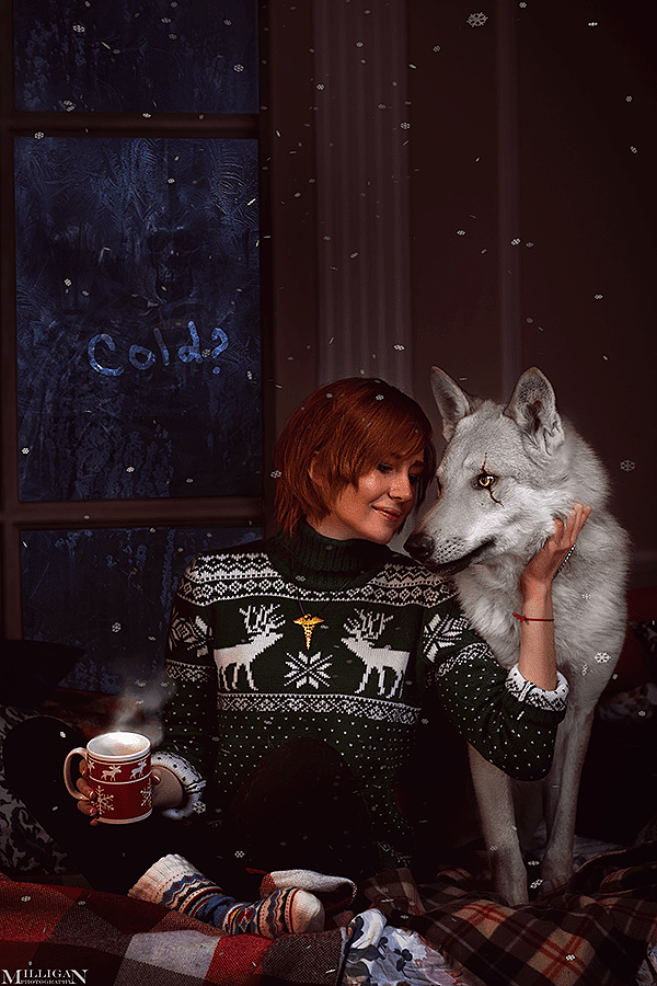 Russian Cosplay: Christmas Ladies (The Witcher 3: Wild Hunt)