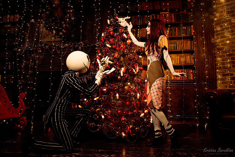 Russian Cosplay: Jack, Sally (The Nightmare Before Christmas)