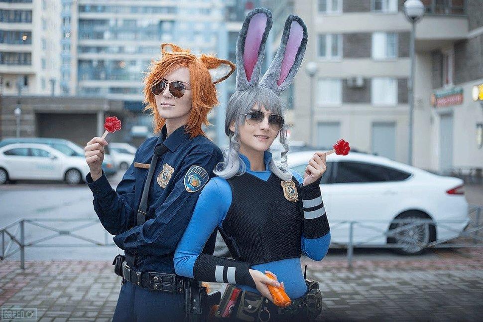 Russian Cosplay: Judy Hoops & Nick Wilde (Zootopia)