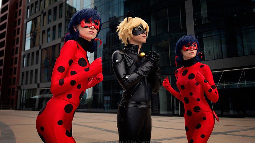Russian Cosplay: LadyBug, Chat Noir (Miraculous LadyBug)