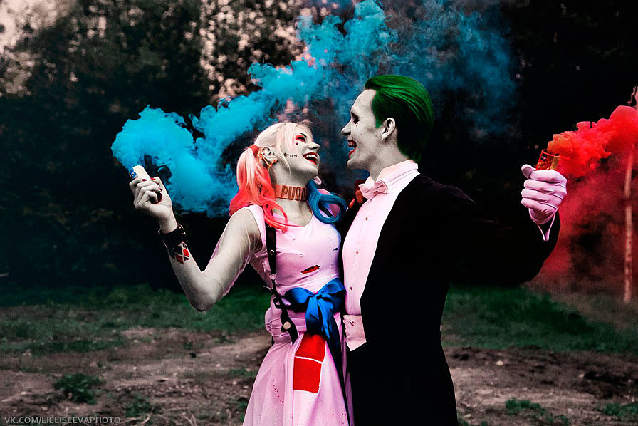 Russian Cosplay: Harley Quinn, Joker (Suicide Squad)