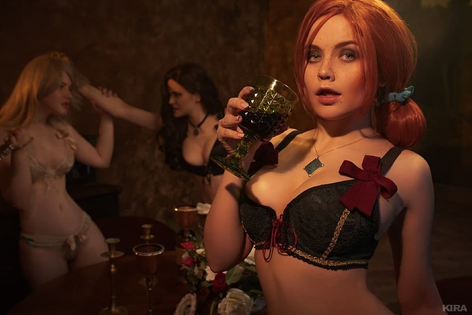 Russian Cosplay: Keira, Triss, Yennefer (The Witcher 3: Wild Hunt) 18+
