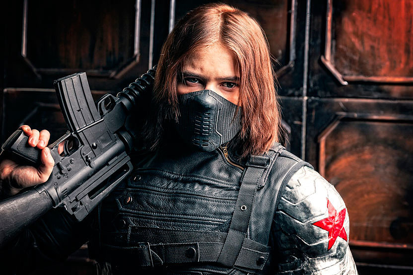 Russian Cosplay: Bucky Barnes (Winter Soldier)