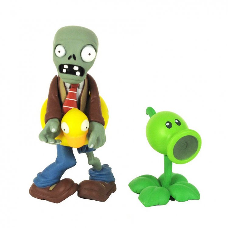 Набор фигурок Ducky Tube Zombie and Peashooter Plants