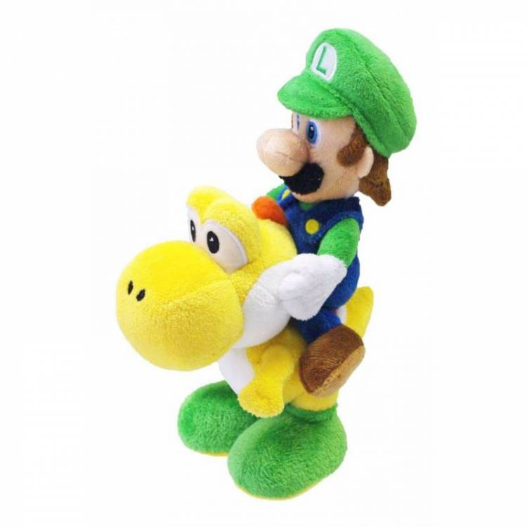 Мягкая игрушка Super Mario Bros - Luigi Riding Yoshi