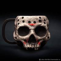 [ПРЕДЗАКАЗ] Кружка Friday the 13th - Jason Voorhees Skull [Handmade]