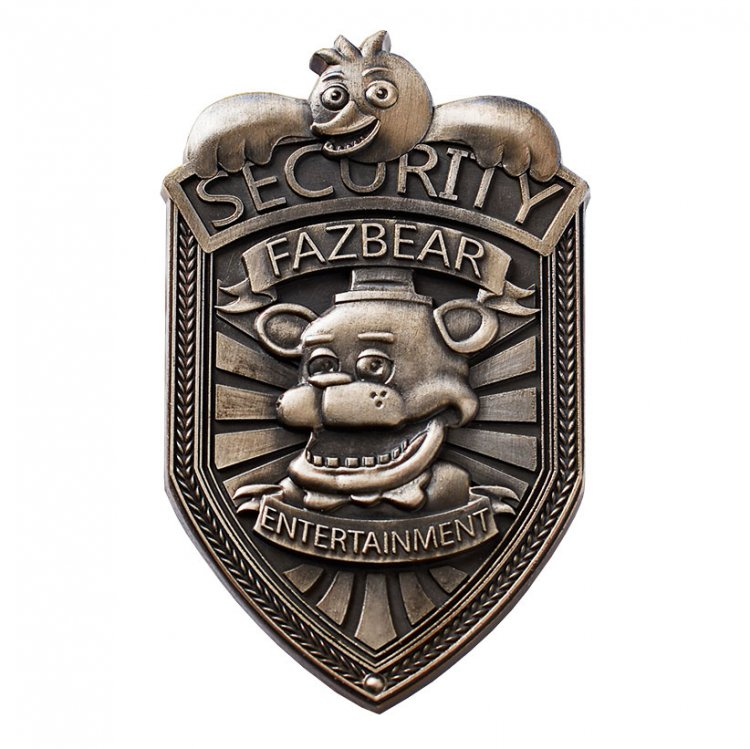 Значок Five Nights At Freddy's Fazbear Security (Silver)
