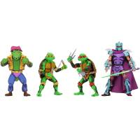 [ПРЕДЗАКАЗ] Набор фигурок Teenage Mutant Ninja Turtles: Turtles in Time Series 2 - Michelangelo, Raphael, Leatherhead and Shredder