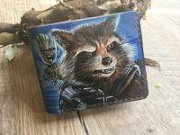 Кошелек Marvel - Groot and Rocket Raccoon Custom [Handmade]