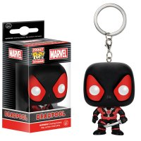 Брелок POP Marvel: Black Deadpool