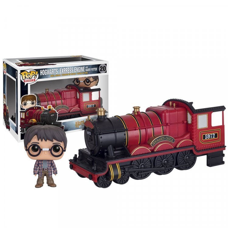 Набор фигурок POP Rides: Harry Potter - Hogwarts Express Engine with Harry Potter