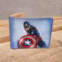 Кошелек Marvel - Captain America Shield Custom [Handmade]